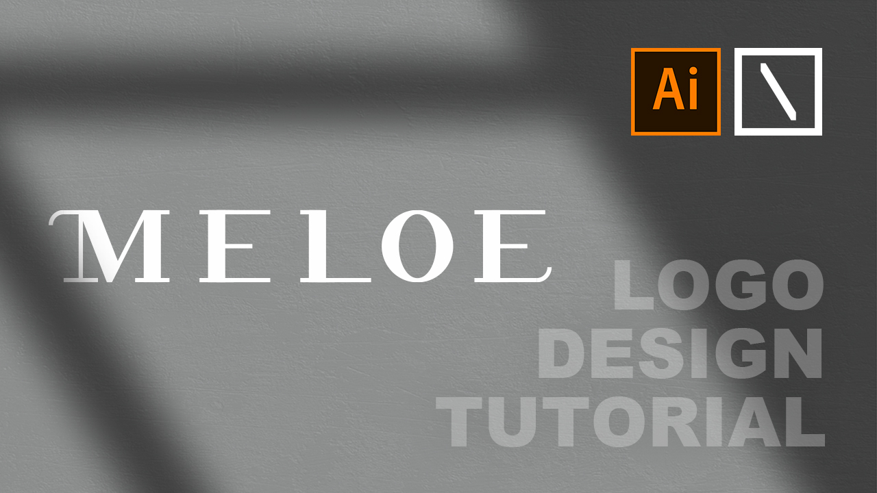 MELOE Logo Design | Adobe Illustrator Tutorial
