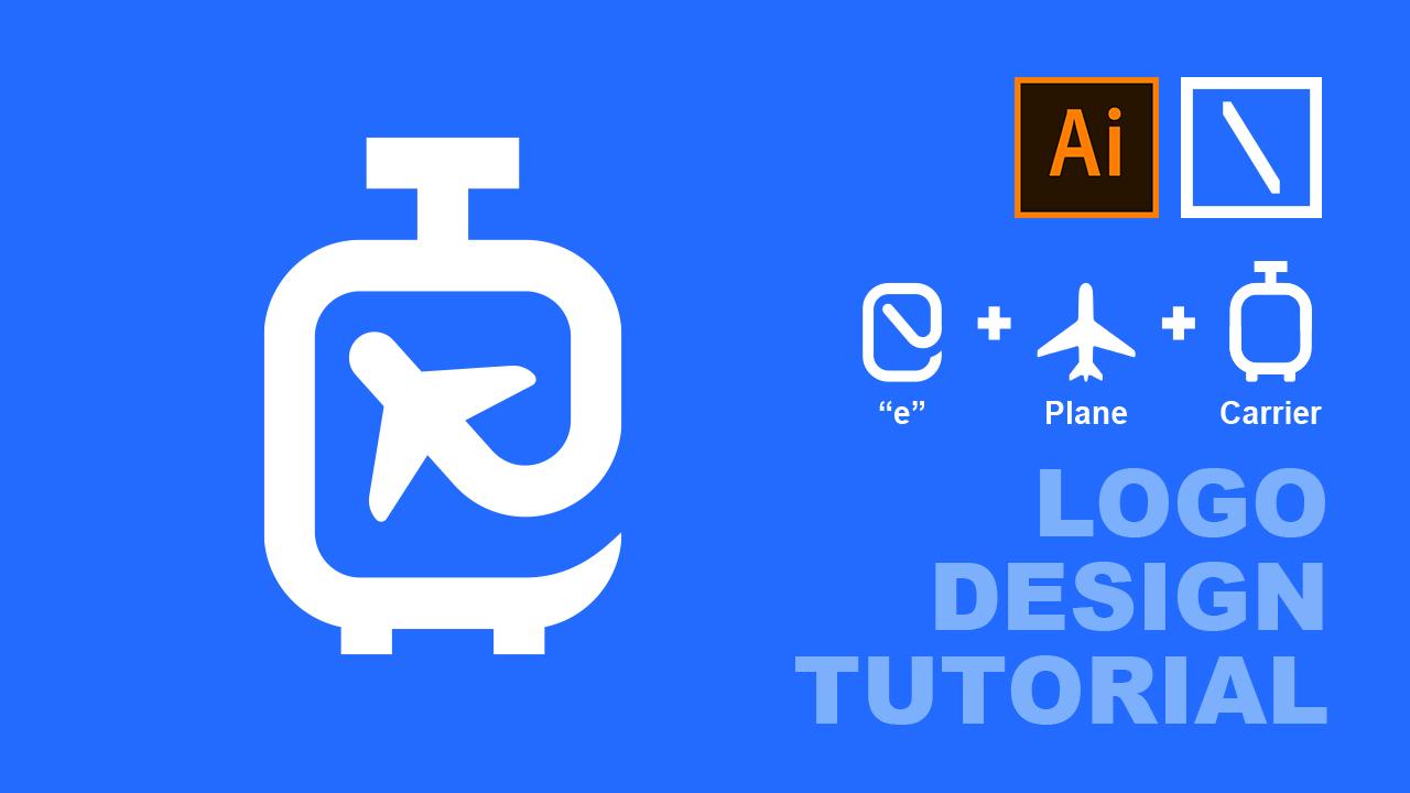 eTrip Logo Design Process | Adobe Illustrator Tutorial