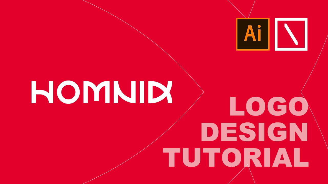 HOMNID Text Logo Design Tutorial in Adobe Illustrator